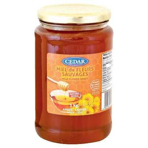 cedar wildflower honey 1kg
